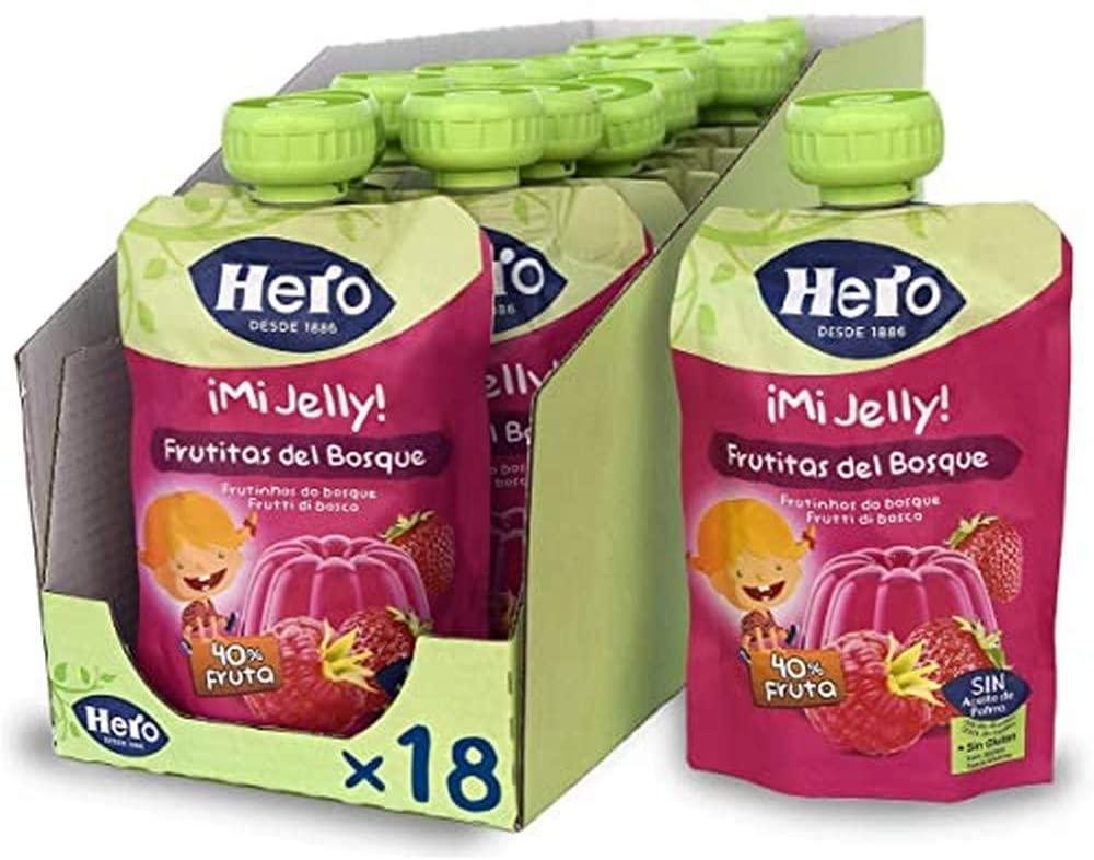 18x100 g Hero Baby Mi Jelly Gelatina de Frutas del Bosque