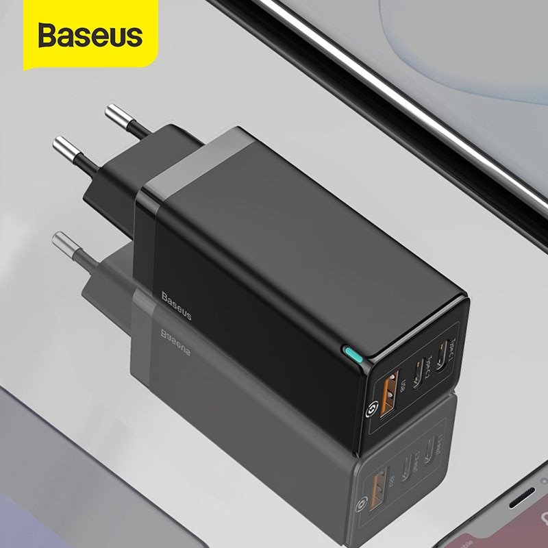 Cargador QC Baseus 65W GaN Lite