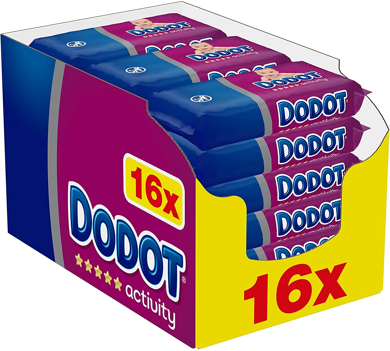 Lote de 16 Packs de 54 Toallitas Dodot Activity