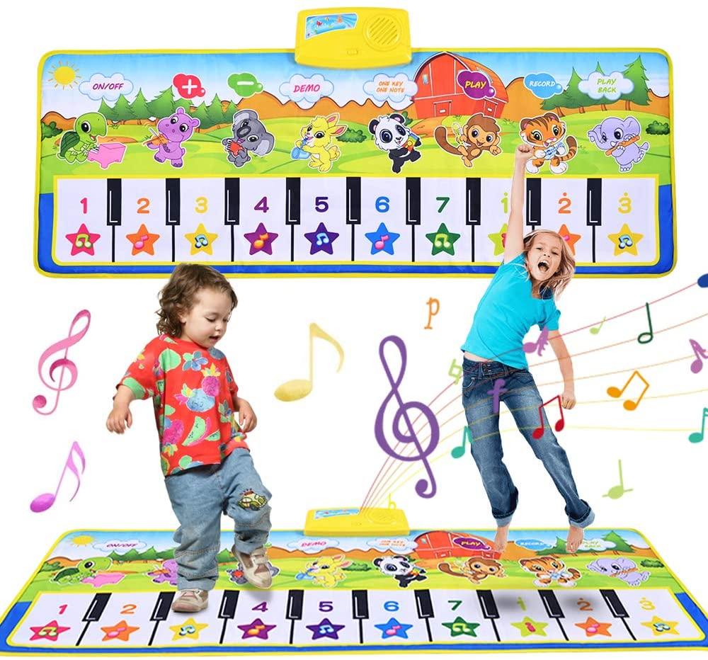 Alfombra musical para niños 100x42cm