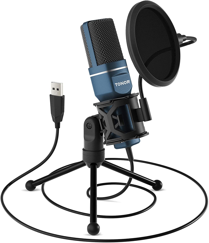Micrófono Cardioide USB Tonor + Accesorios