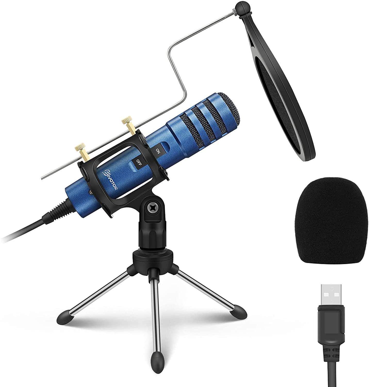 Micrófono condensador USB + trípode