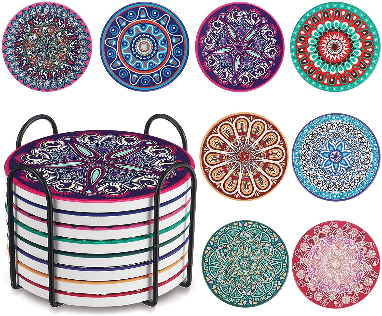 Pack 8 posavasos de cerámica