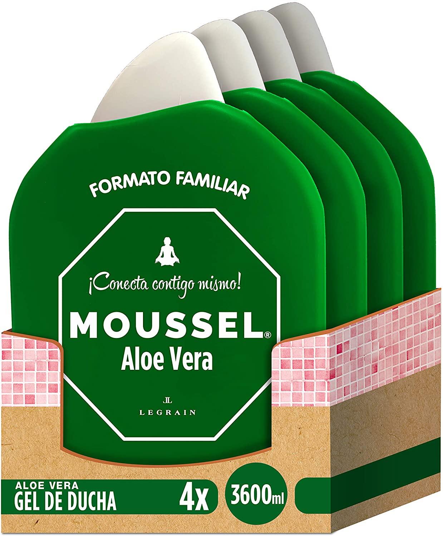 4x900ml Moussel Gel Ducha Aloe Vera