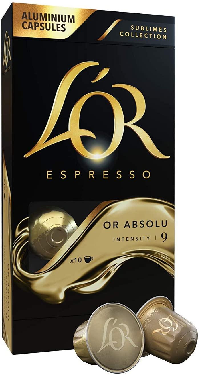 100 Cápsulas L'Or Espresso Café Or Absolu