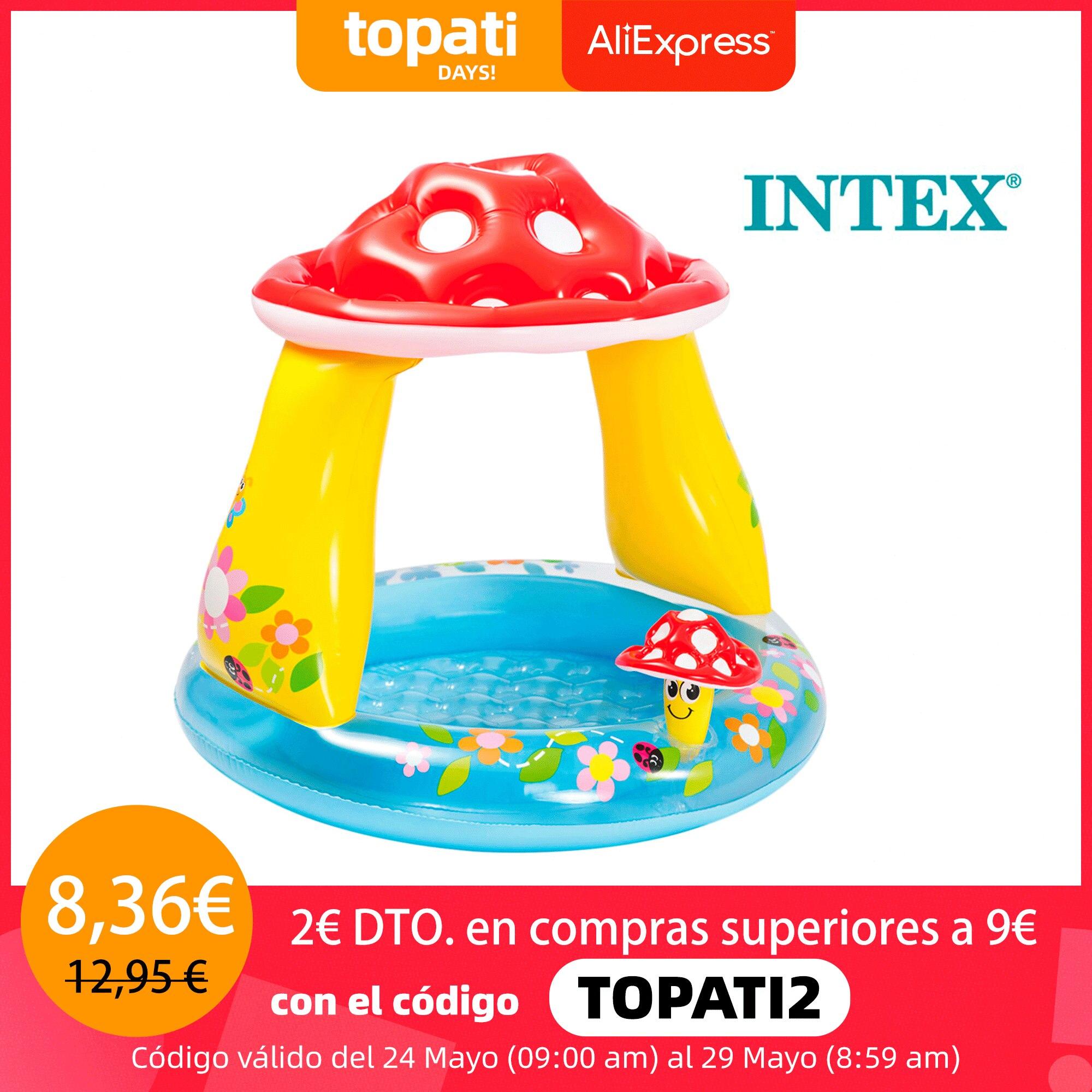 Piscina bebé Intex con parasol