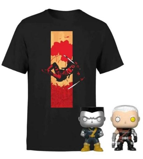 Pack Camiseta + 2 Funkos Pop! Deadpool
