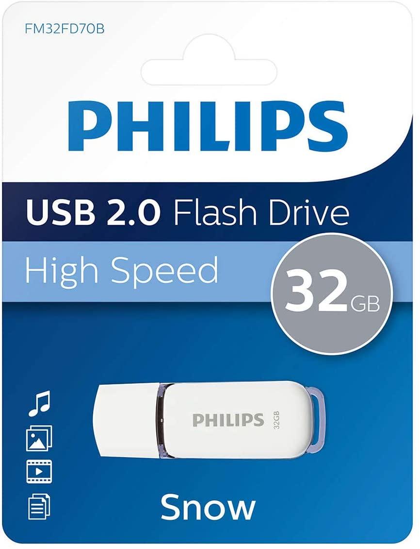 Memoria USB 2.0 Philips De 32 GB Edición Nieve