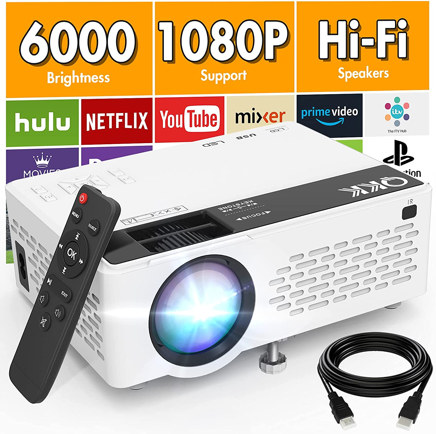 Proyector 1080p 6000lm