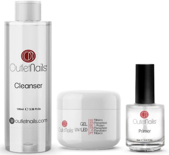 Kit para uñas de gel UV Outlet Nails