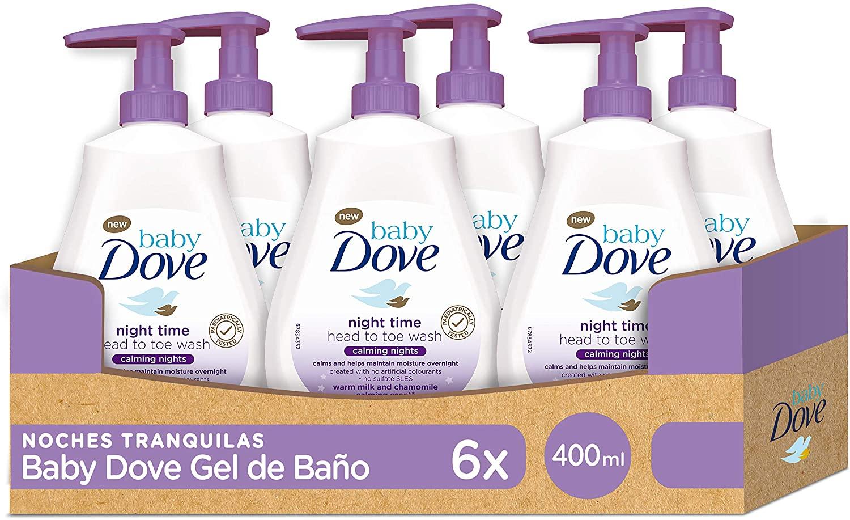 6x Baby Dove Gel de Baño