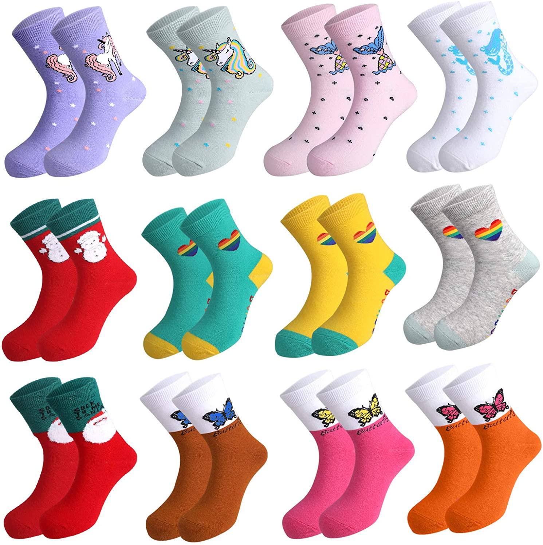 12 Pares de calcetines para niñas