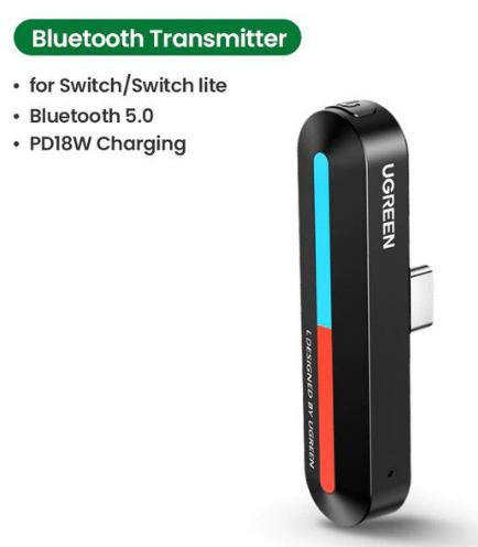 Transmisor de Audio Bluetooth para Nintendo Switch