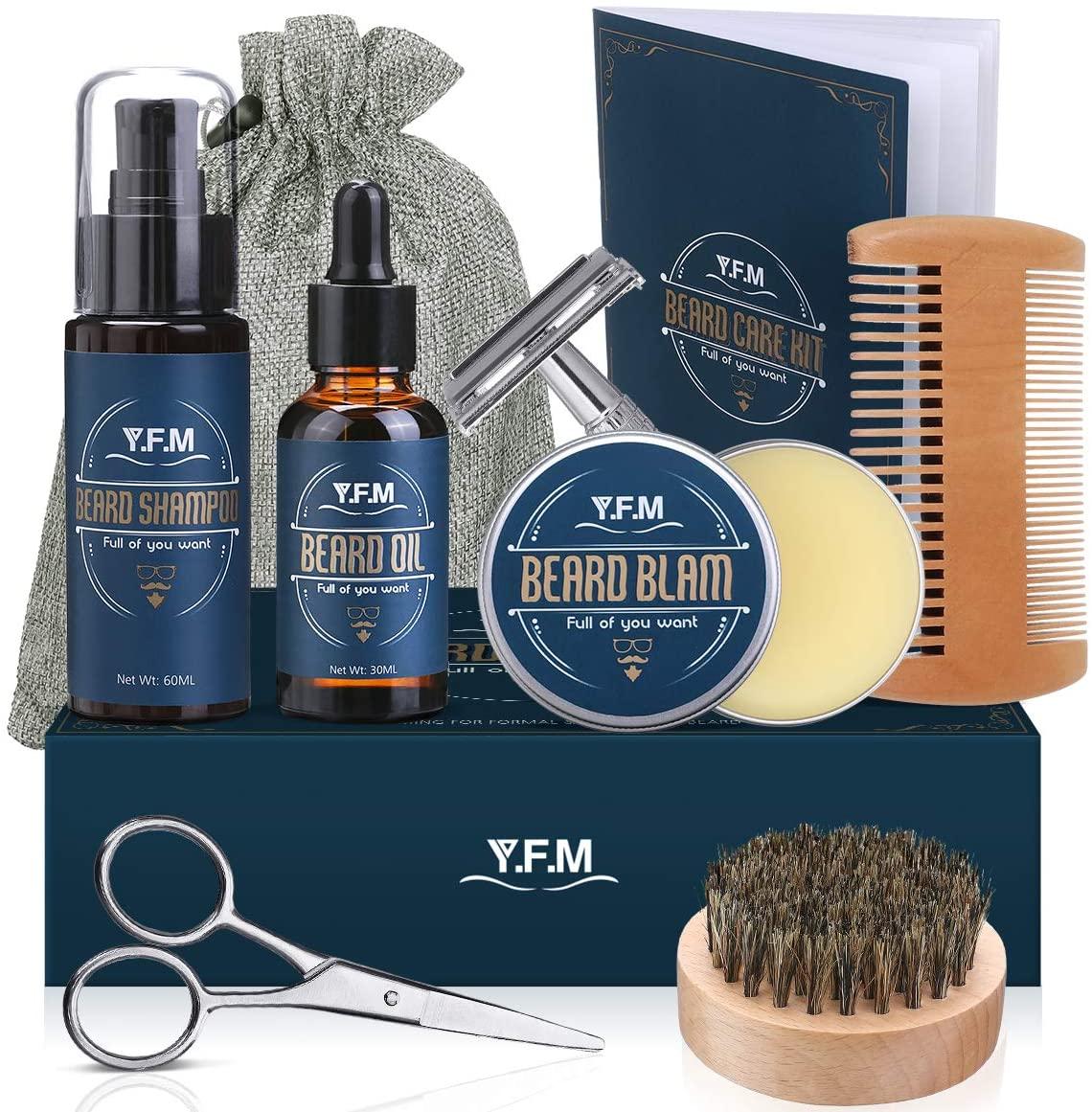 Kit cuidado de barba 8 en 1