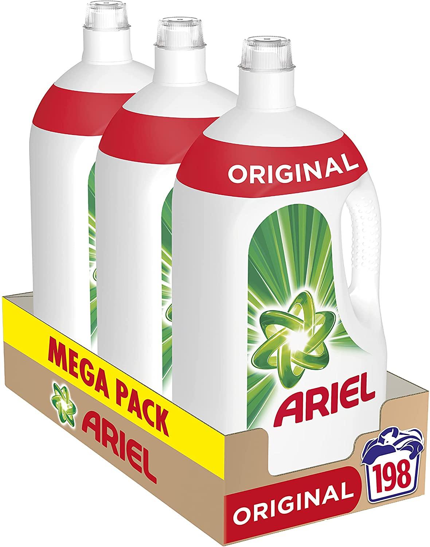 198 Lavados Ariel Detergente Lavadora Líquido Original