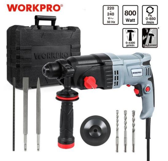 Martillo rotativo eléctrico Workpro 800W