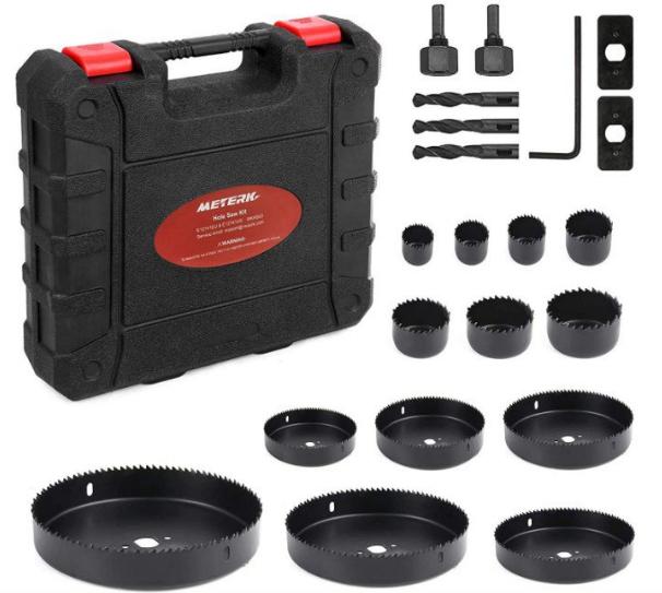 Pack 21 herramientas Meterk para madera