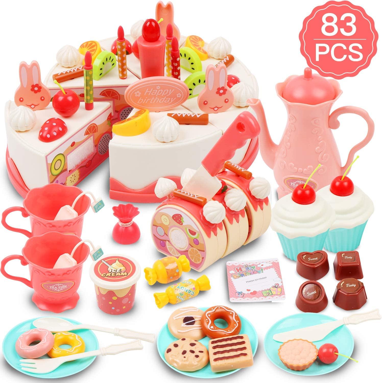 Juego de tartas para niños 83 piezas