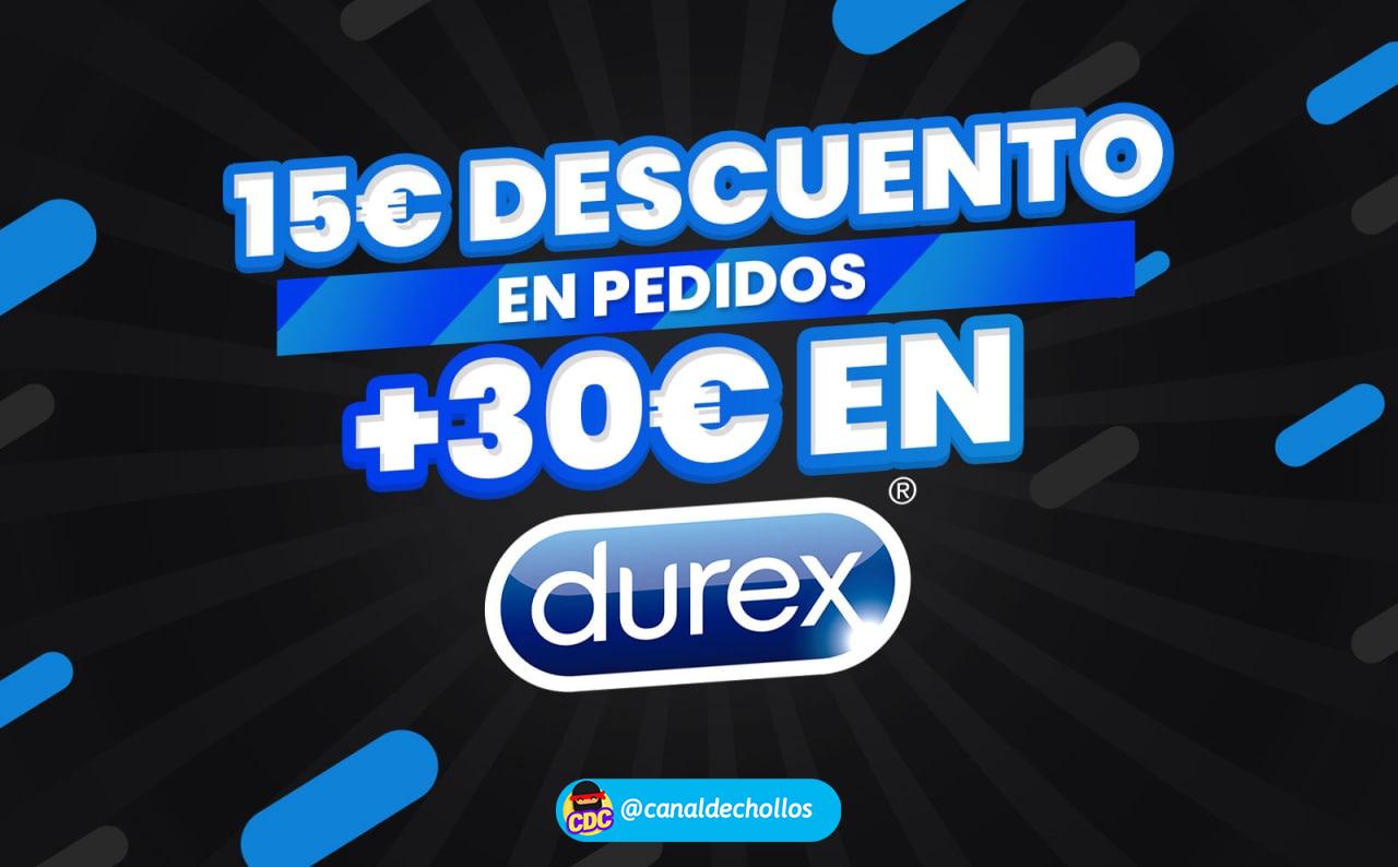 15€ Dto. en compras +30€ en Durex