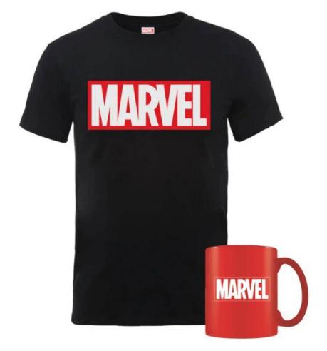 Pack Marvel de Camiseta + Taza