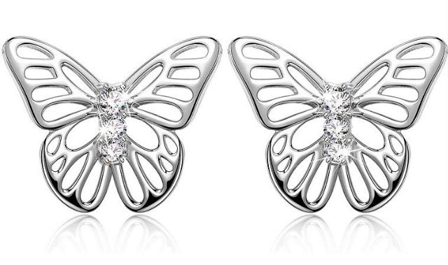 Pendientes plata mariposa