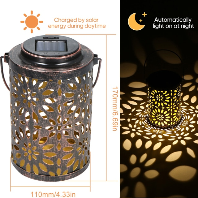Lámpara solar LED de diseño para jardín