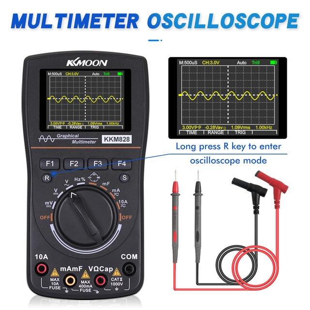Multímetro digital con osciloscopio KKmoon