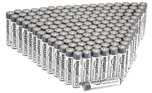 200 Pilas alcalinas AAA de uso industrial Amazon Basics
