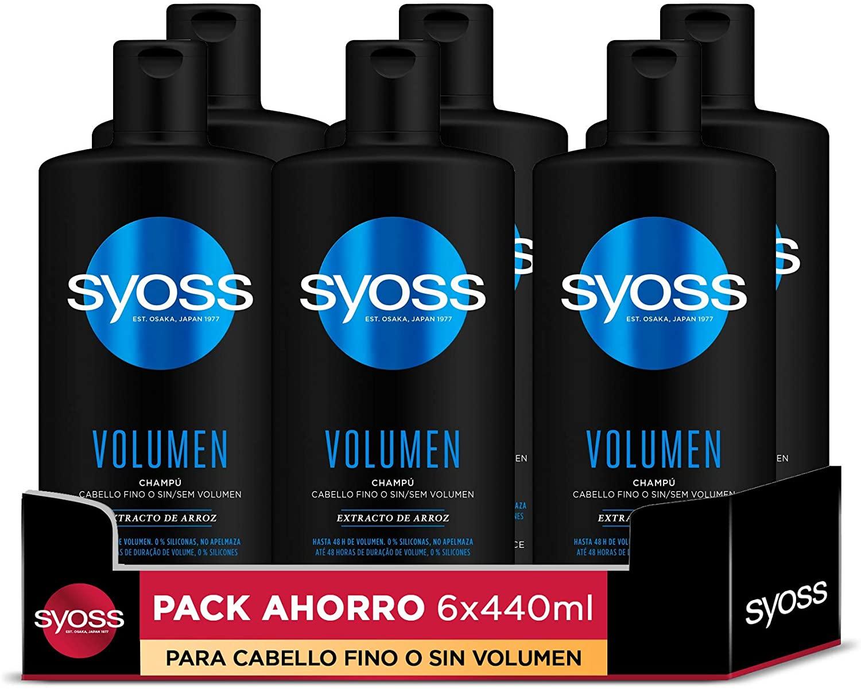 6x Champú para pelo fino o sin volumen Syoss