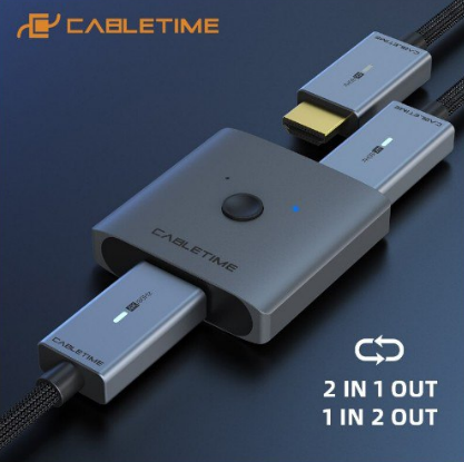 Switch-Splitter HDMI Cabletime 4K