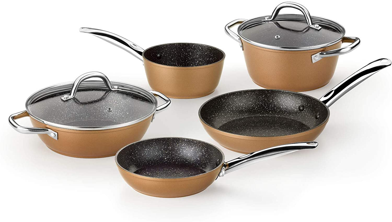 Batería de cocina 5 piezas Monix Copper