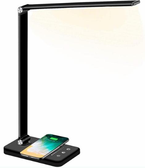 Lámpara Escritorio LED + Cargador Qi