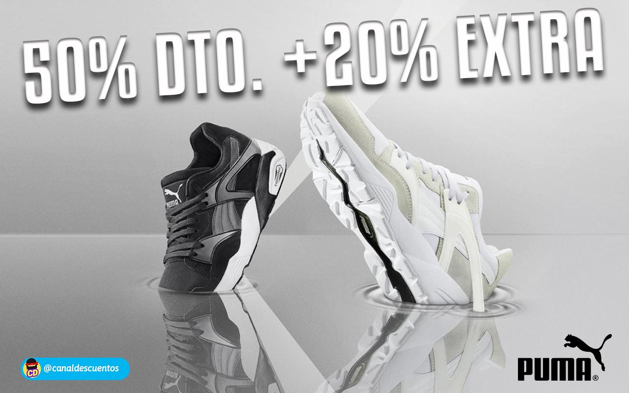 Hasta 50% de dto. + 20% EXTRA en todo Puma