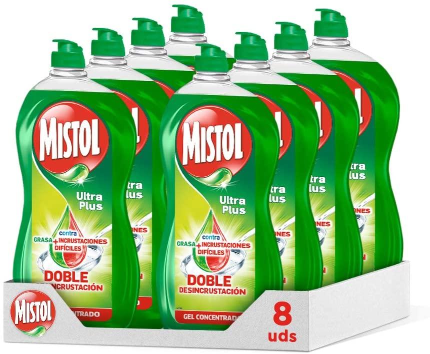 8x950ml Lavavajillas Líquido Mistol Ultra Plus