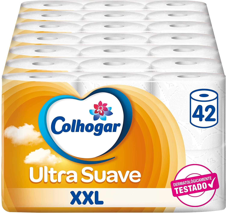 42 Rollos Papel Higiénico Colhogar Doble Ultra Suave XXL