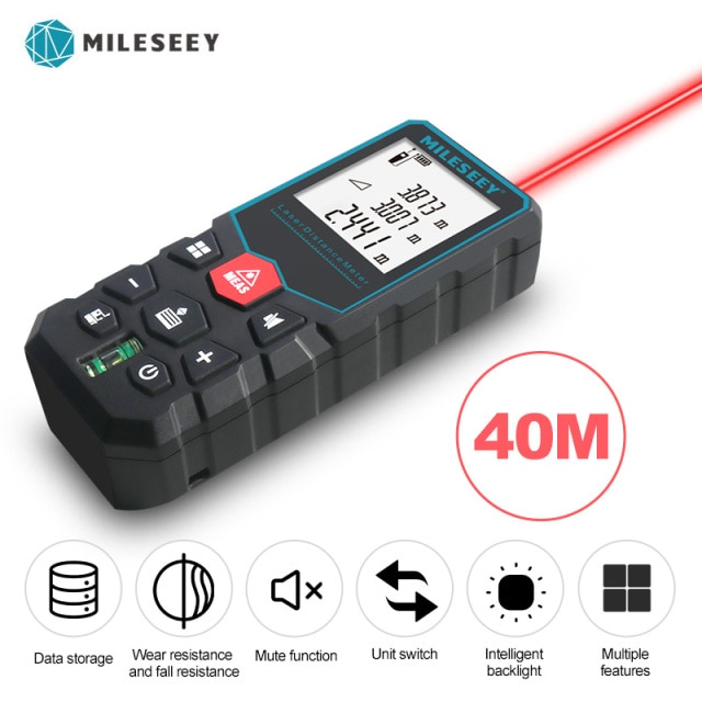 Medidor Láser Mileseey 40m