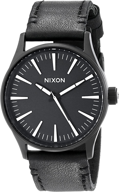 Reloj de Cuarzo Nixon Sentry 38 correa de cuero