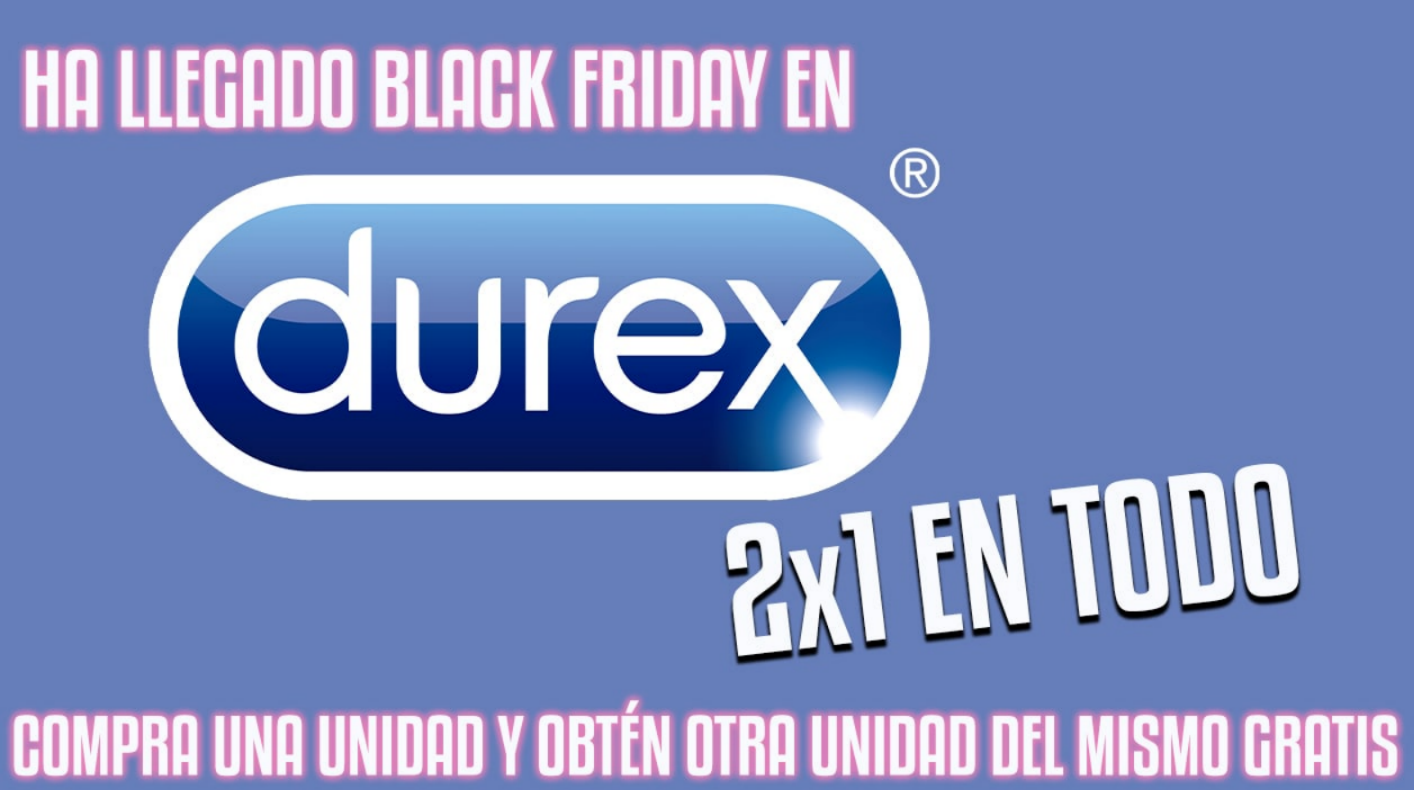 2x1 en productos Durex por el Black Friday