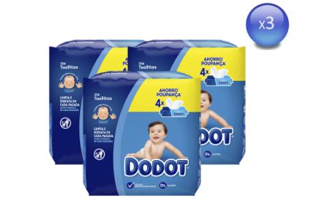 Pack 3x256 Dodot Toallitas para bebés