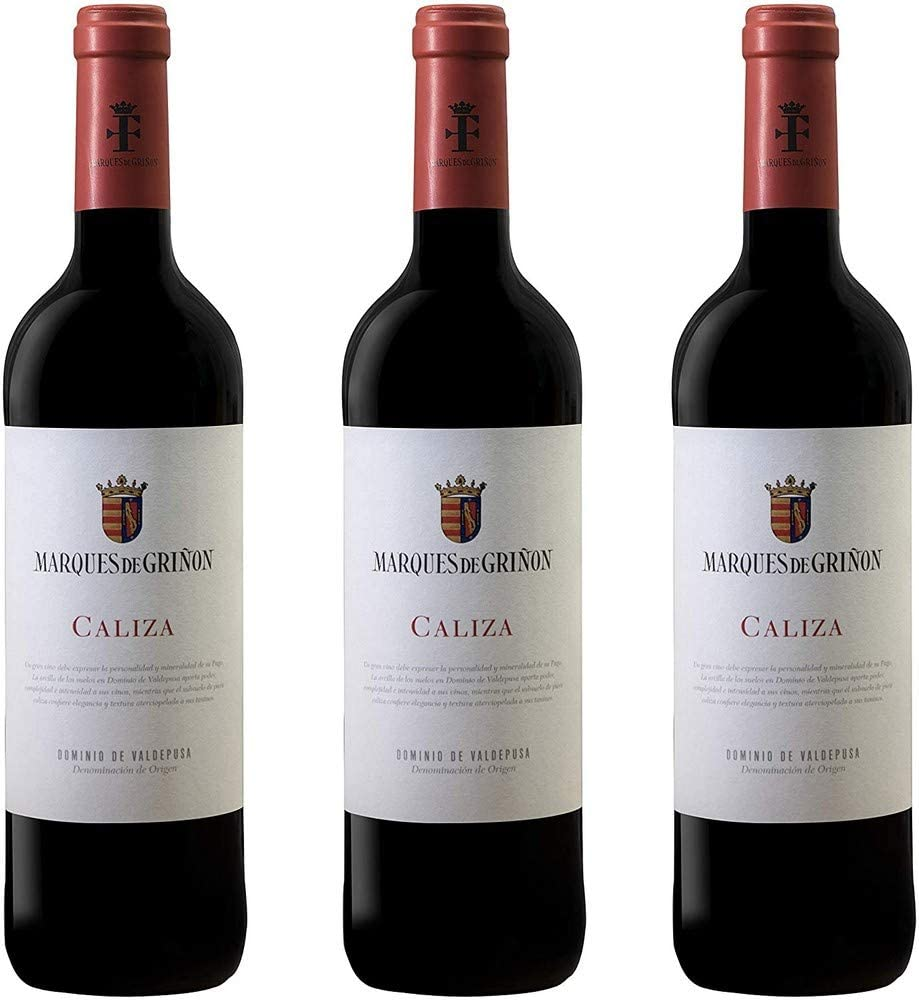 3 botellas x 750 ml Marqués de Griñón Caliza D.O