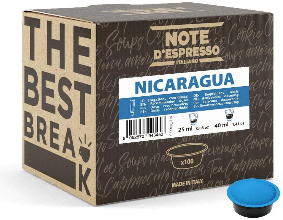 100x Cápsulas de café Nicaragua para las cafeteras Lavazza