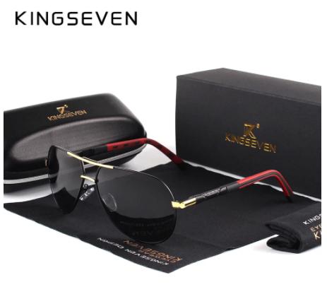 KINGSEVEN-gafas de sol polarizadas de aluminio