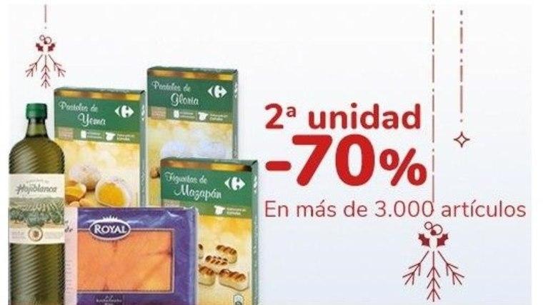 2ª al -70% en Selección de productos de supermercado Carrefour