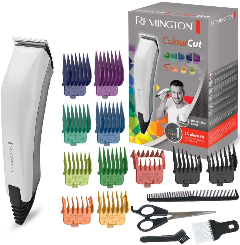 Recortadora de pelo con cable Remington ColourCut + 16 Accesorios
