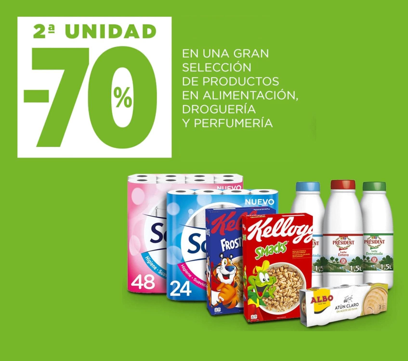 2da Unidad al -70% desde El Corte Inglés en productos de alimentación y demás