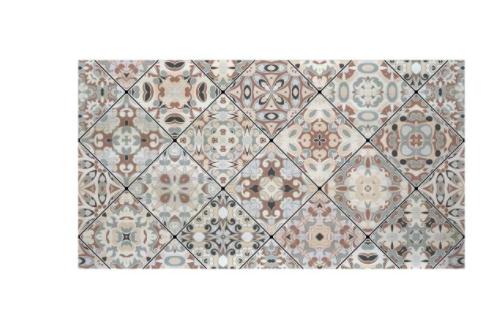 Cabecero decapado 'Mosaico vintage'