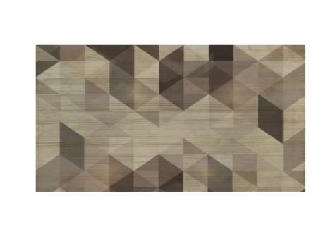 Cabecero natural Geométrico marrón