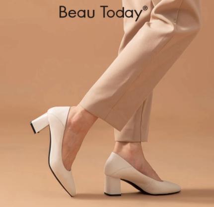 Zapatos de tacón alto de piel de vaca