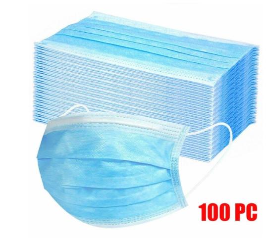 Pack de 100 Mascarillas Desechables 3 capas