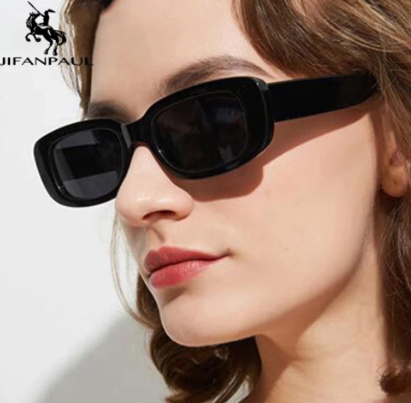 Gafas de sol rectangulares y pequeñas para mujer